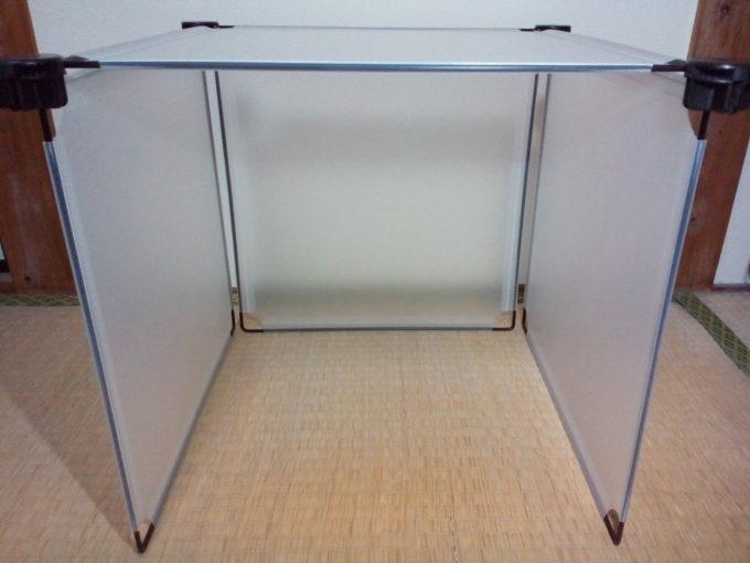 簡易撮影用ボックスの組み立て