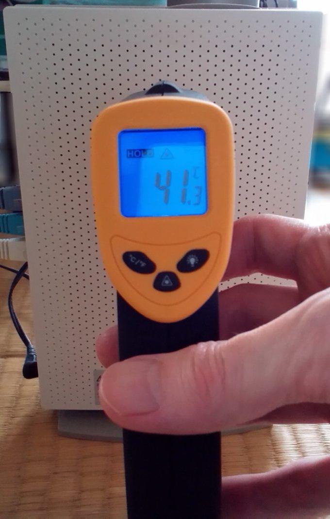 ADSLモデムの温度