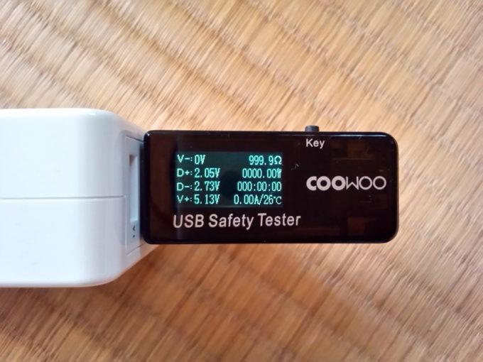 USBコネクタのD+とD-の電圧